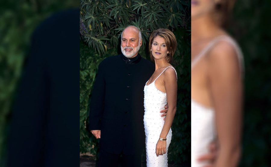 Celine Dion and Rene Angélil in 1990.