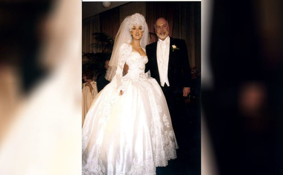 Rene Angélil and Celine Dion at their wedding in 1994.