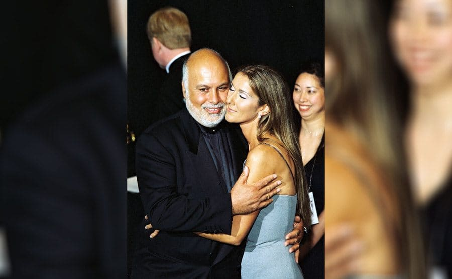 Celine Dion and Rene Angélil at the 1999 Grammy Awards.