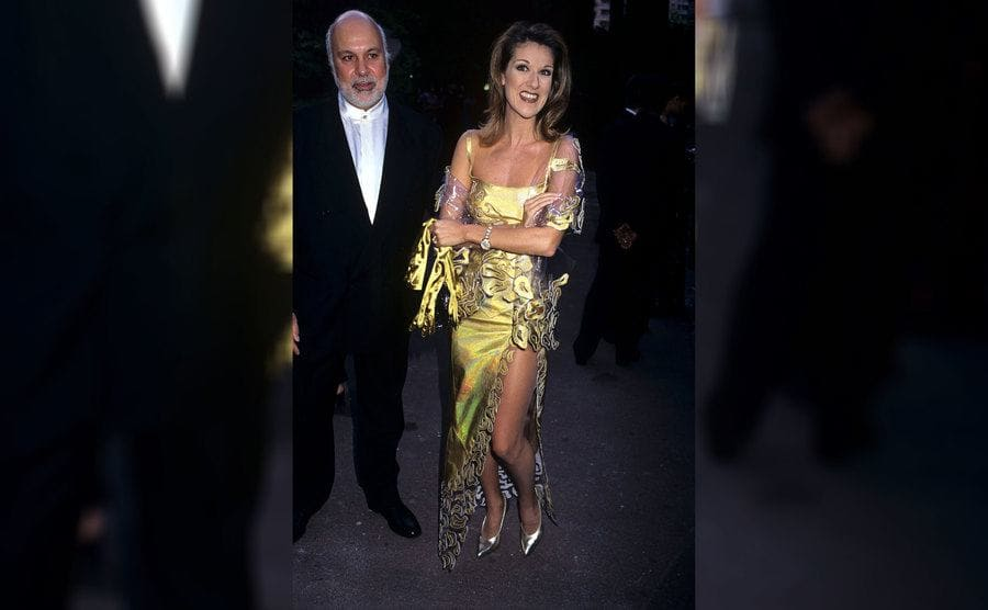 Celine Dion and Rene Angelil at the World Music Awards in 1997.