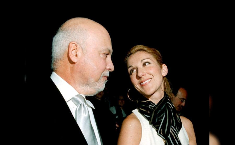 Celine Dion was looking at Rene Angélil lovingly in Paris, October 2002.