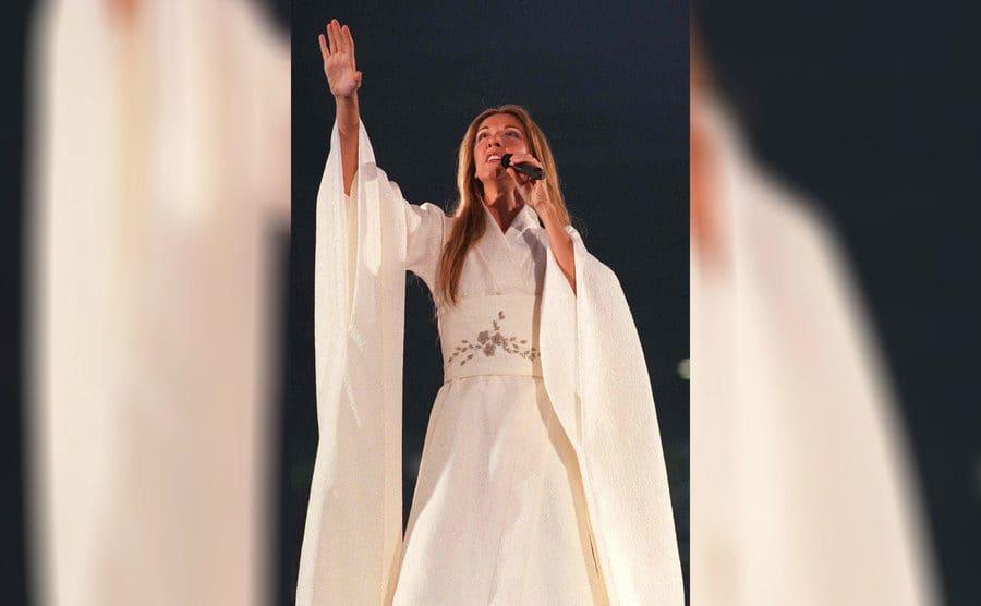 Celine Dion was performing in Belgium in 1999.