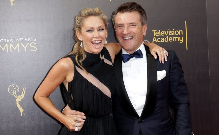 Kym Johnson and Robert Herjavec at the Creative Arts Emmy Awards in September 2016.