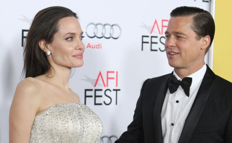 Angelina Jolie and Brad Pitt at the 'By the Sea' film premiere in November 2015.