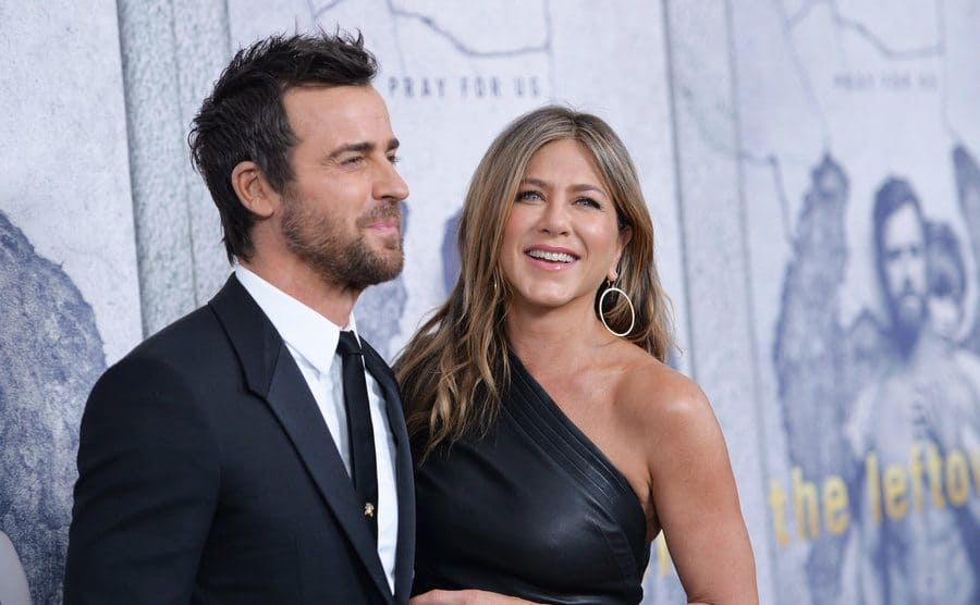Jennifer Aniston and Justin Theroux at 'The Leftovers' TV series premiere in April 2017.
