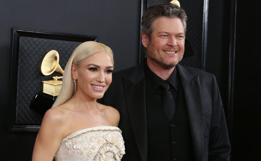 Blake Shelton and Gwen Stefani at the Grammy Awards in January 2020.