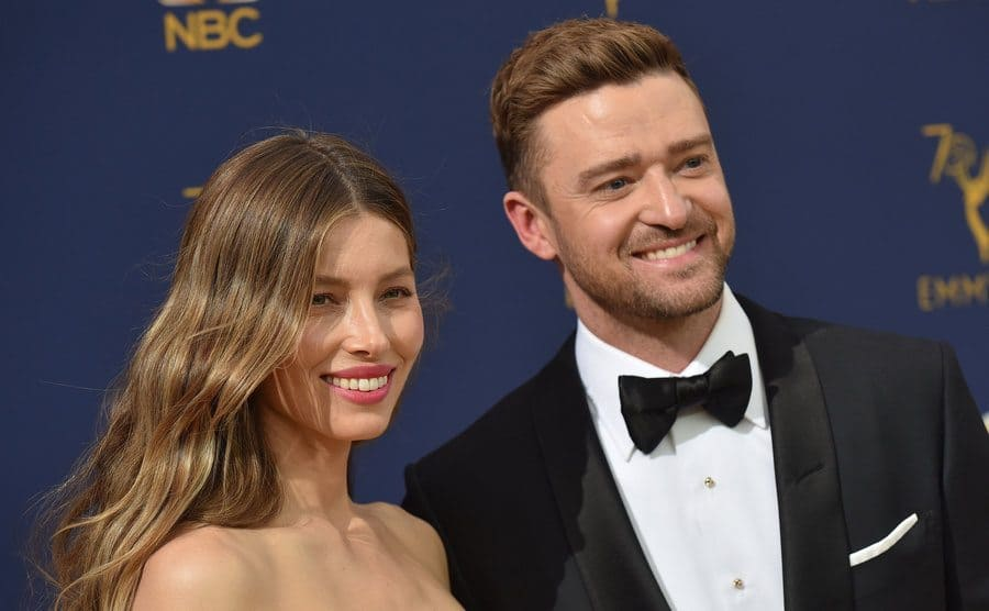Jessica Biel and Justin Timberlake at the Emmy Awards in September 2018.
