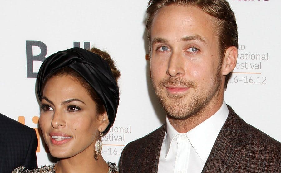 Eva Mendes and Ryan Gosling at 'The Place Beyond The Pines' film premiere in September 2012.