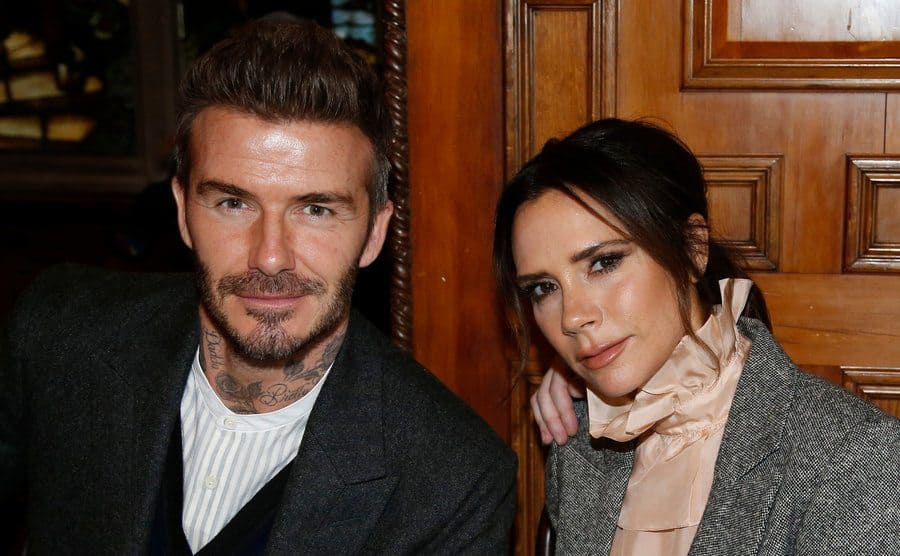 Victoria and David Beckham at a fashion show in January 2019.