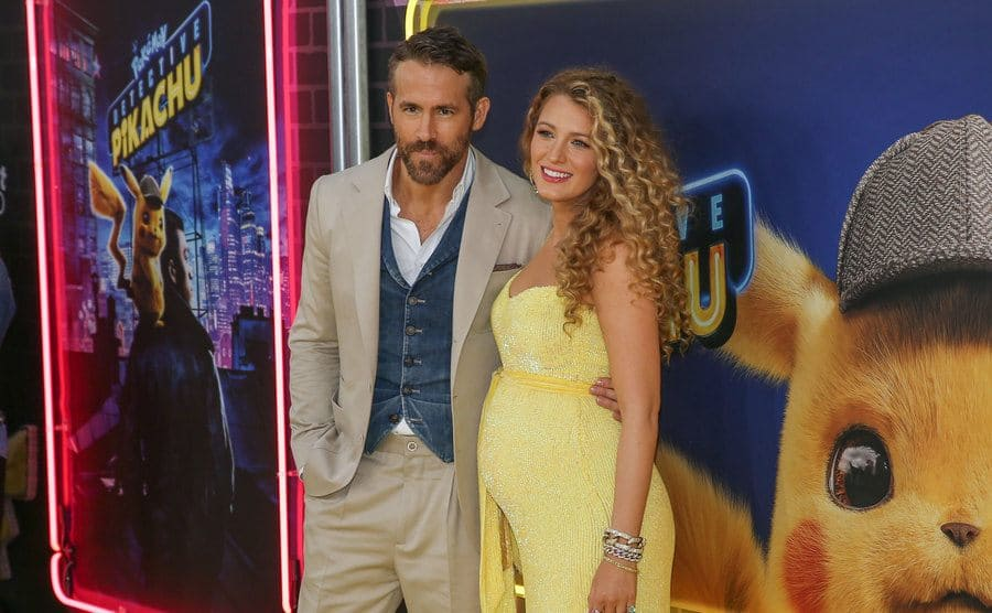 Ryan Reynolds and Blake Lively at the 'Pokemon Detective Pikachu' film premiere in May 2019.