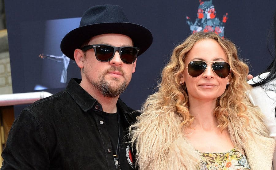 Nicole Richie and Joel Madden at the Lionel Richie Hand and Footprint Ceremony in LA, March 2018.