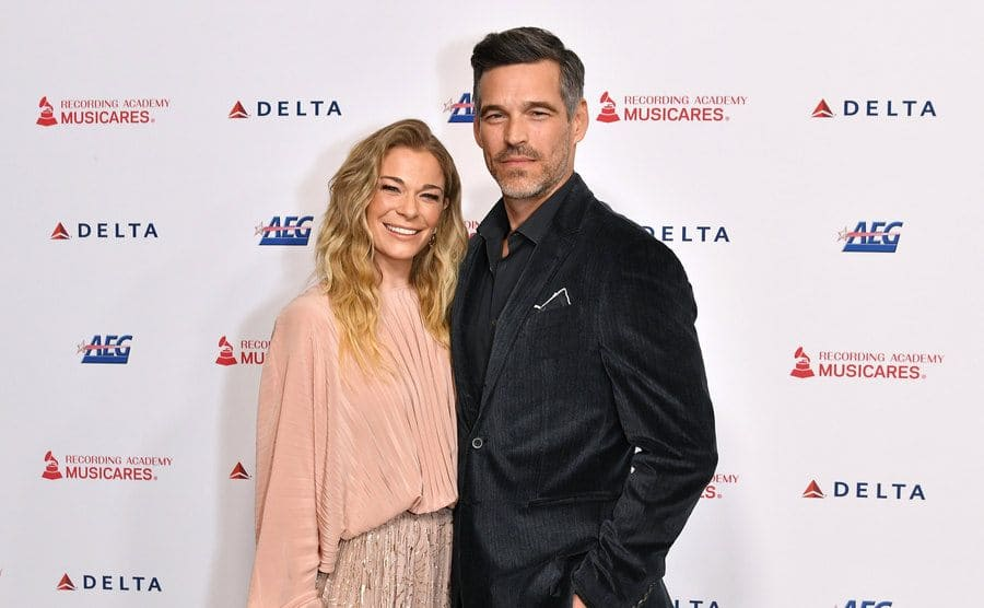 LeAnn Rimes and Eddie Cibrian at MusiCares Person of the Year Gala in January 2020.