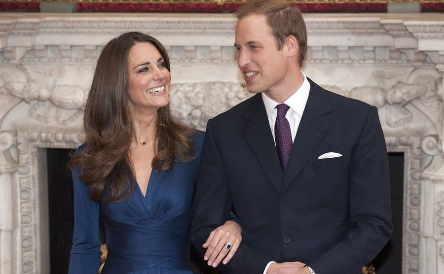 Prince William and Duchess Kate at their engagement in November 2010.