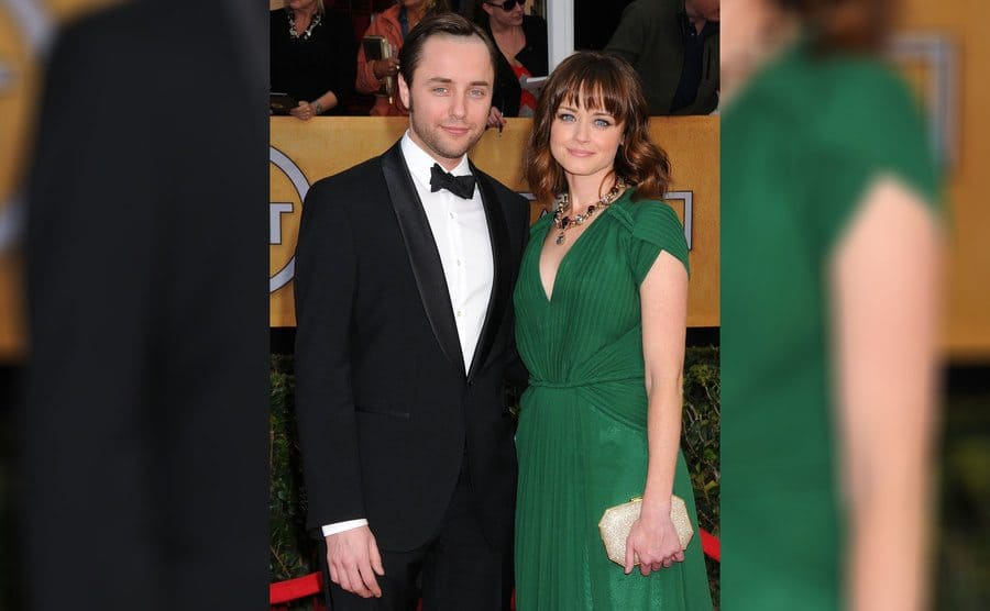 Vincent Kartheiser and Alexis Bledel at the Annual Screen Actors Guild Awards in January 2013.