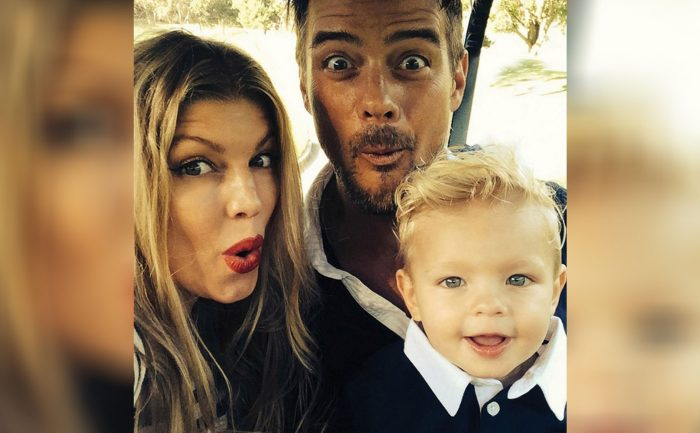 Photo of Fergie and Josh Duhamel and their son