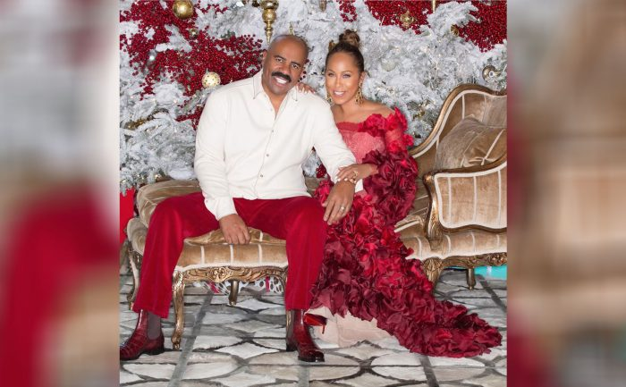 A photo of Steve Harvey and his wife, Marjorie