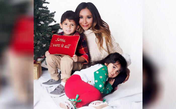 "photo of Nicole ""Snooki"" Polizzi and Her Kids"