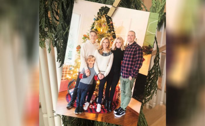 holiday card of Reese Witherspoon and her family
