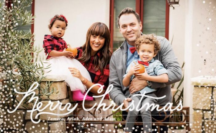 holiday card of Tamara Housley and her family