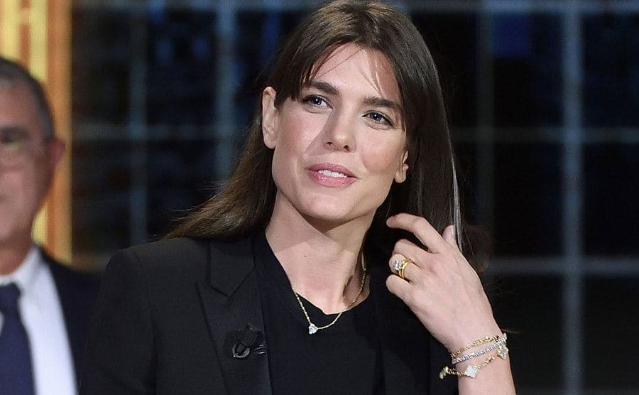 Charlotte Casiraghi wears her engagement ring