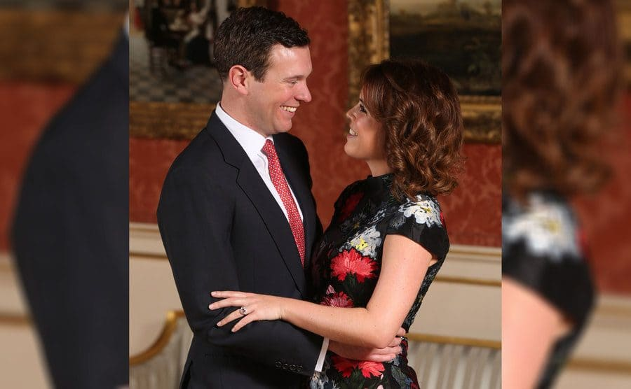 Princess Eugenie and her fiancé at the time, Jack Brooksbank