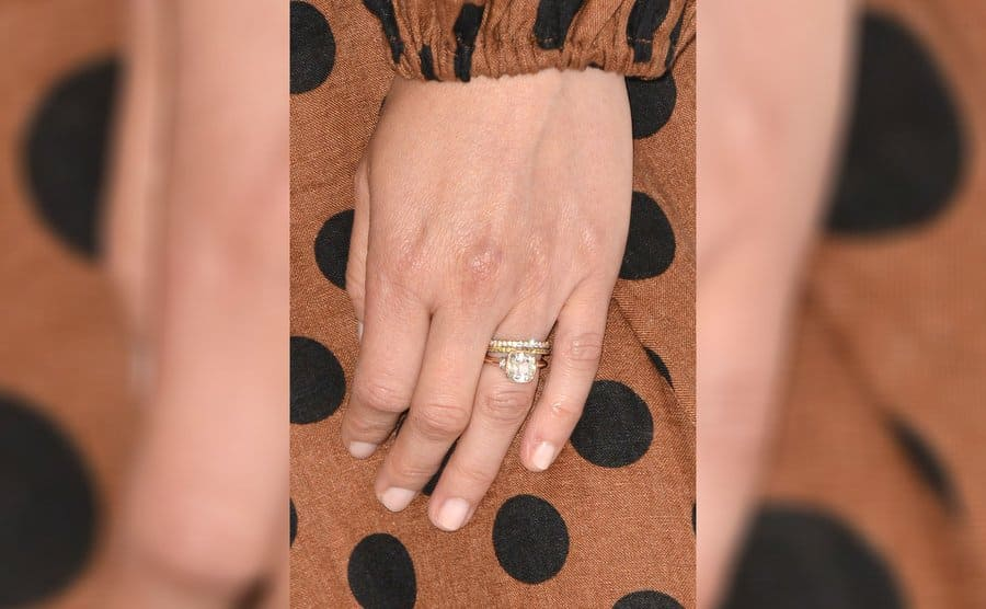 Leighton Meester's engagement ring and wedding band