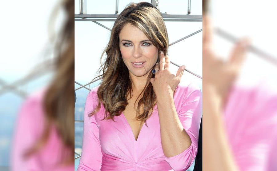 Elizabeth Hurley reveals her engagement ring
