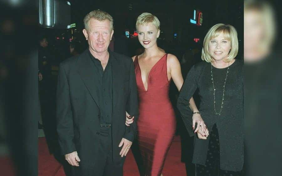 Charlize Theron and parents, Ivor and Gerda Theron
