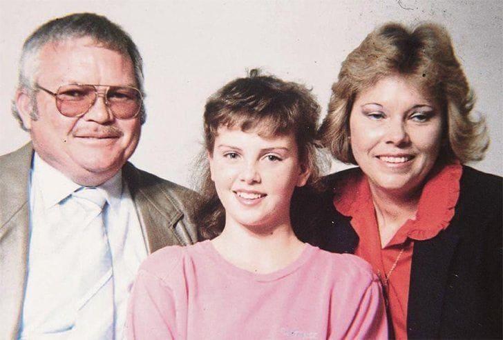 Charles Theron, Charlize Theron, and Gerda Theron