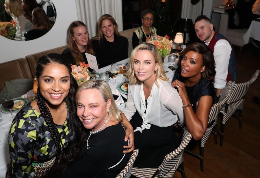 Lilly Singh, Gerda Maritz, Charlize Theron, and Aisha Tyler