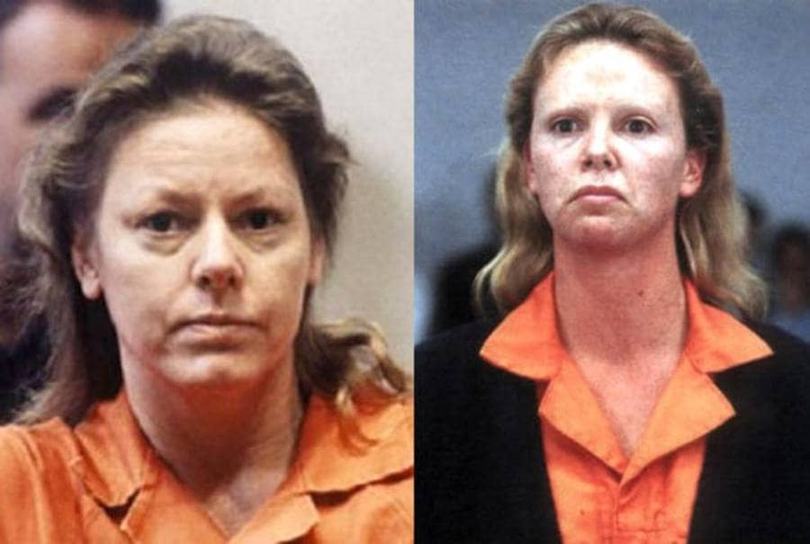(Left) Aileen Wuornos / (Right) Charlize Theron in Monster