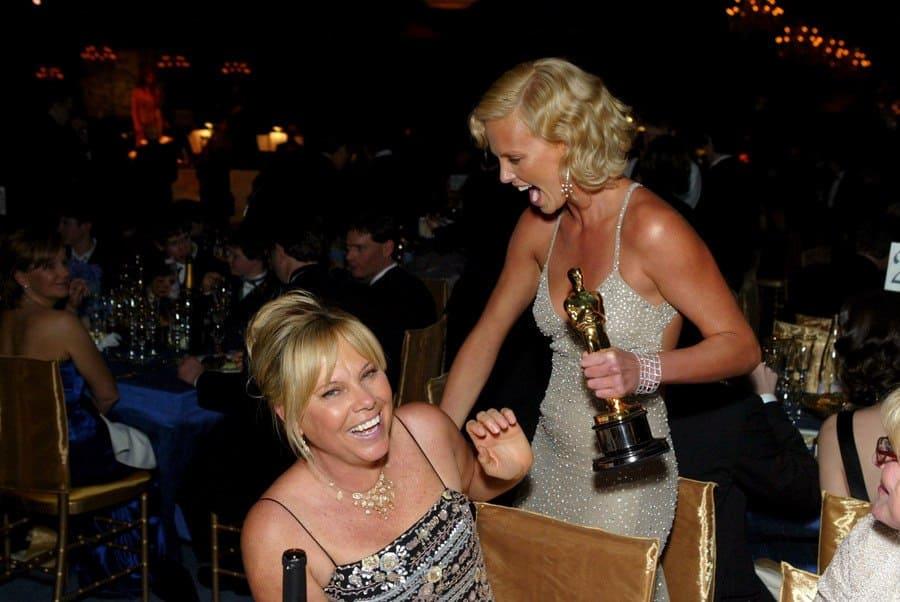 Charlize Theron and Mother - Academy Awards Governor's Ball