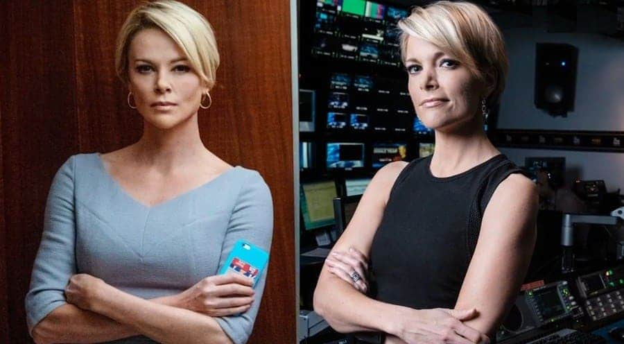 (Left) Megyn Kelly, (Right) Charlize Theron in bombshell