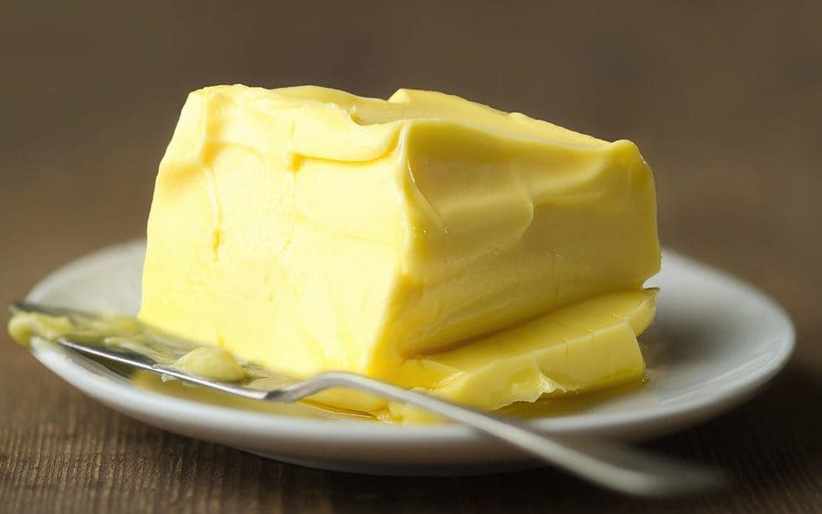 Butter softening on a hot plate