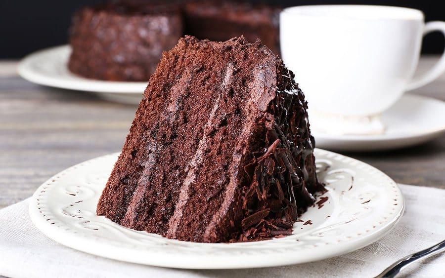 A chocolate fudge box cake