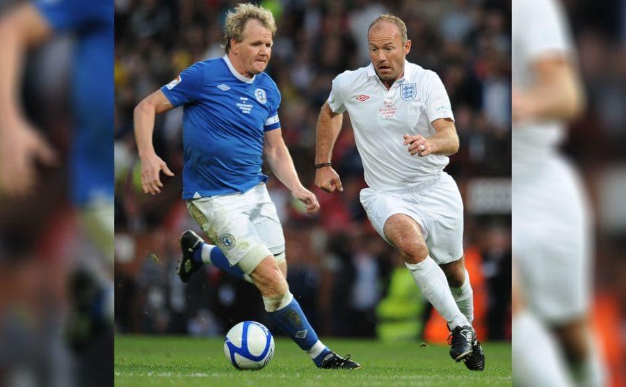 Gordon Ramsay playing soccer in 2009