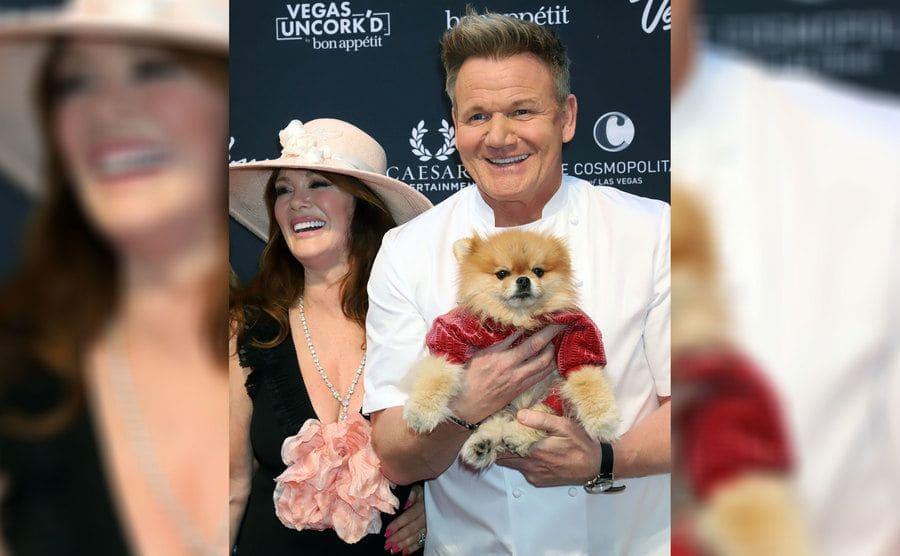 Gordon Ramsay and Lisa Vanderpump with her dog