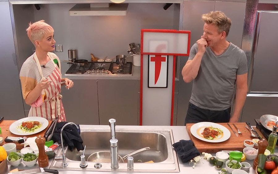 Gordon Ramsay and Katy Perry on 'The F Word'