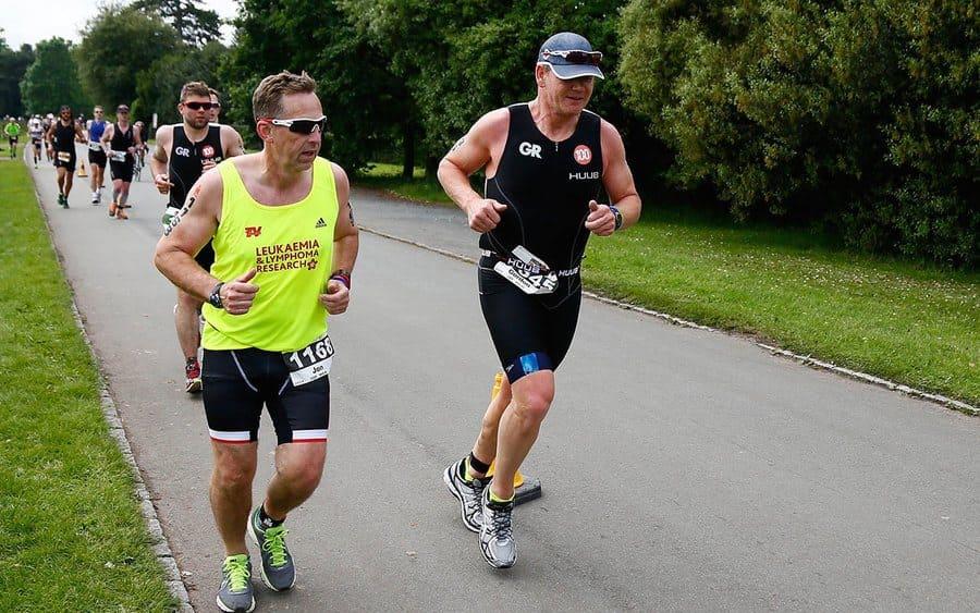 Gordon Ramsay halfway through a triathlon.