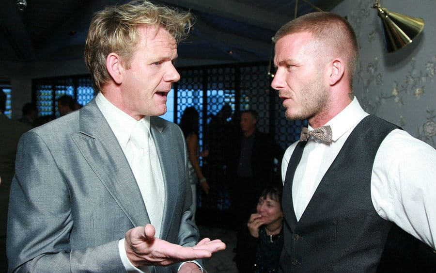 David Beckham and Gordon Ramsay