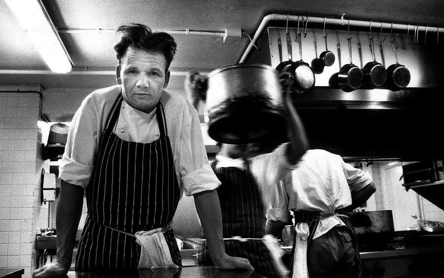 Gordon Ramsay in Aubergine's kitchen