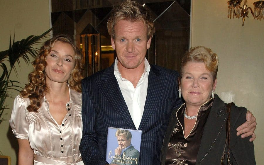 Gordon Ramsay with his wife and mother.