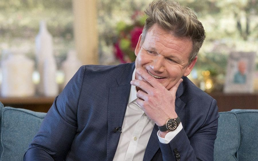 Gordon Ramsay during a talk show interview