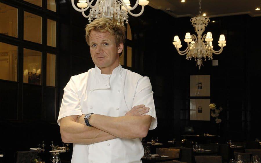 Gordon Ramsay at a fancy restaurant