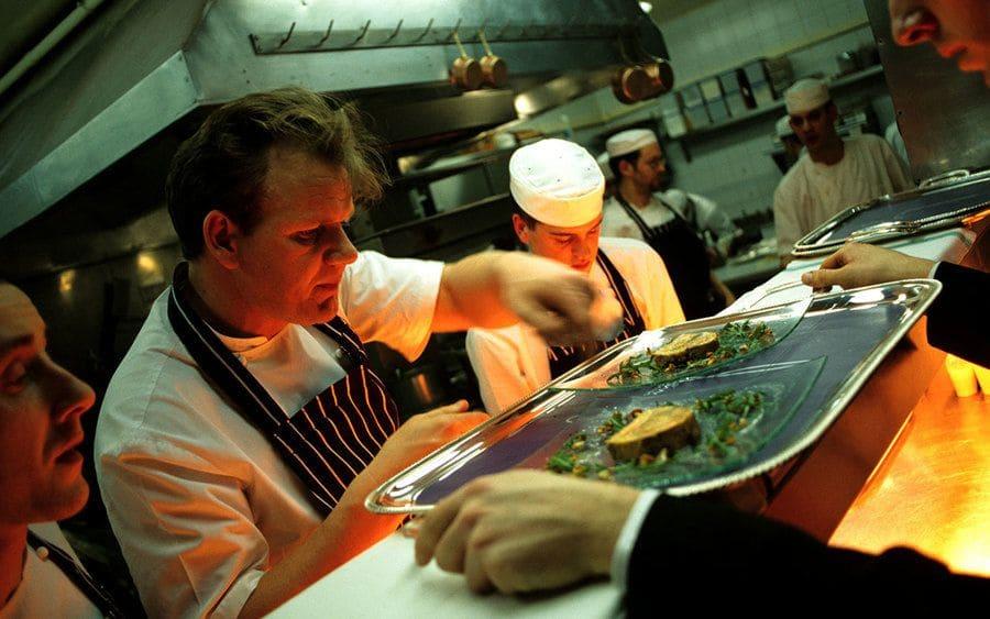 Gordon Ramsay in his kitchen in Chelsea, London