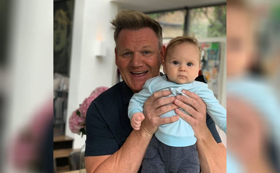Gordon Ramsay and Oscar, his one-year-old son