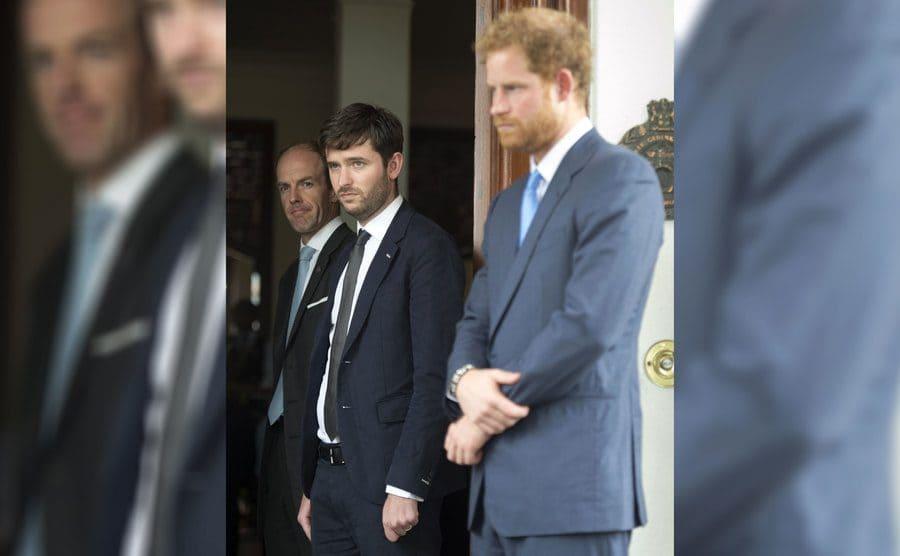 Ed Lane Fox, Jason Knauf, and Prince Harry