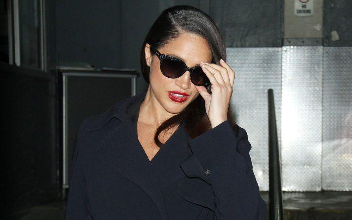 Meghan Markle wearing sunglasses at night