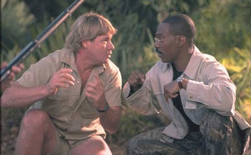 Steve Irwin and Eddie Murphy in 'Dr. Dolittle 2.'