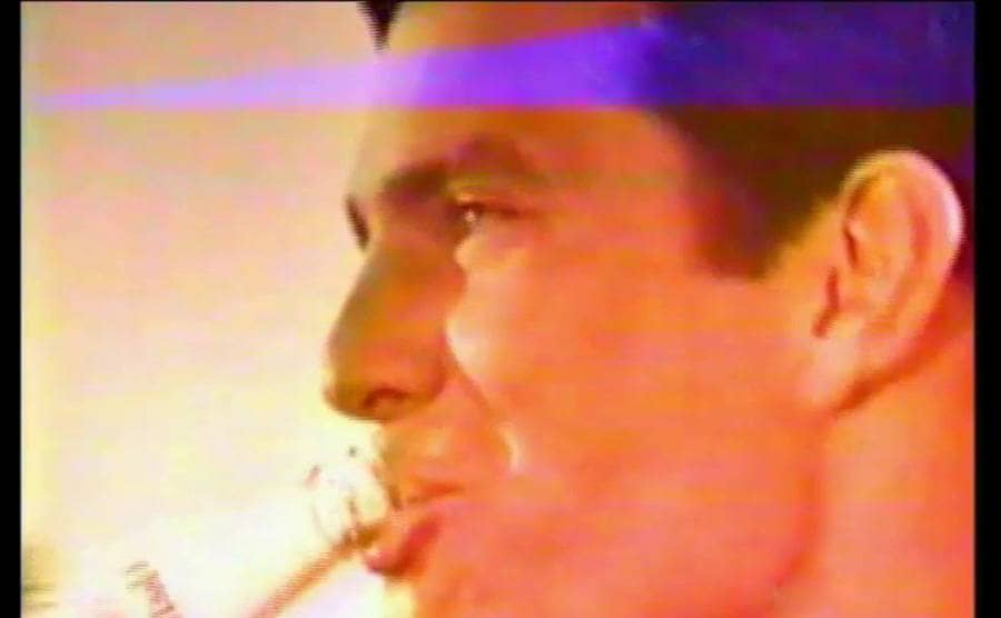 Tom Selleck drinking Pepsi in the 1960s commercial